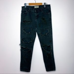 One Teaspoon Awesome Baggies Straight Leg Jeans 27
